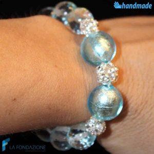Lustro Perla - Bracciale in vetro di Murano