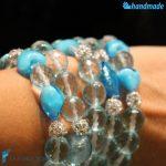 Tris Lustro Azzurri – Bracciale in vetro di Murano 1