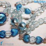 Tris Lustro Azzurri – Bracciale in vetro di Murano 2