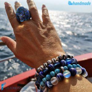 Zanzibar Opal - Bracciale in vetro di Murano