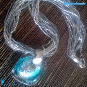 Collana Rete Acquario in vetro di Murano - COLL0024