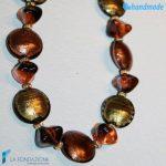 Collana Autunno Schissa in vetro di Murano – COLL0083