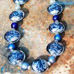 Collana Schissa Luna Blu in vetro di Murano – COLL0085