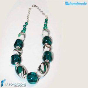 Collana Marmorata in vetro di Murano - COLL0089
