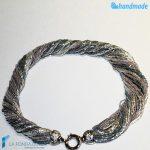 Collana Torchon 48 fili Lucida con argento – COLL0092