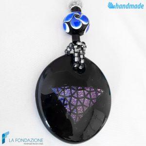 Extruded Necklace handmade in Murano Glass - La Fondazione snc - COLL0094