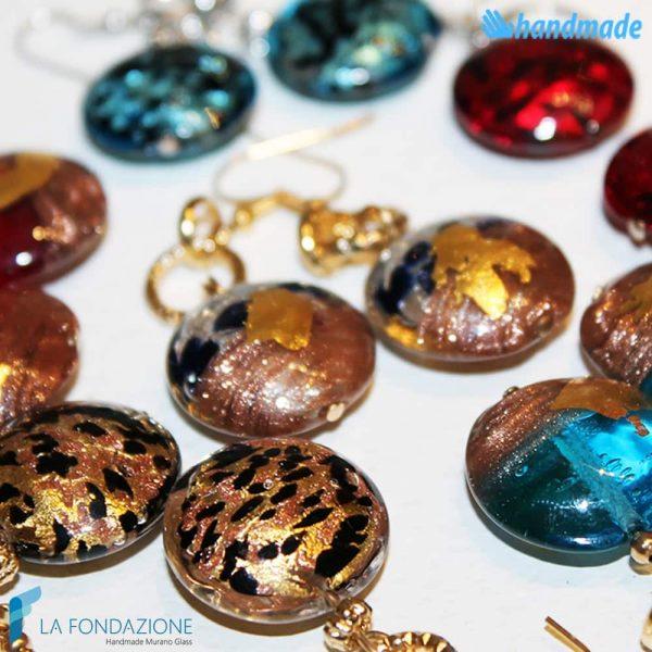 Orecchini Mezzaluna in vetro di Murano - EARRINGSC0019