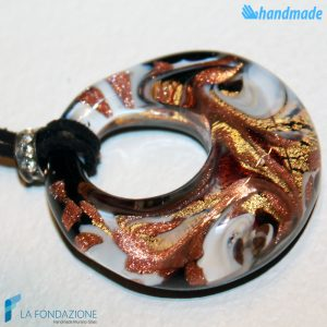 Pendente Foro Pavone Fuoco in vetro di Murano - PEND0051