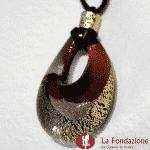 Goccia oro rotto in vetro di Murano – PEND0011
