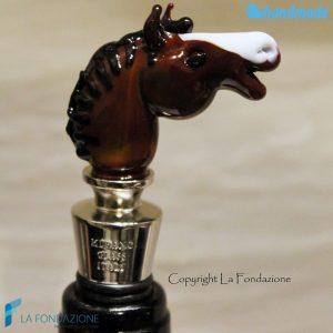Tappo da bottiglia Testa di Cavallo in vetro di Murano - CAPS0008