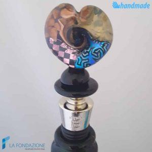 Tappo da bottiglia Dicroico in vetro di Murano - CAPS0020