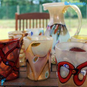 Servizio Monet da 6 Goti con Caraffa in vetro di Murano - GOTI0035