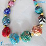 Parure Fenicio Primavera con collana e orecchini in vetro di Murano – PARU0040