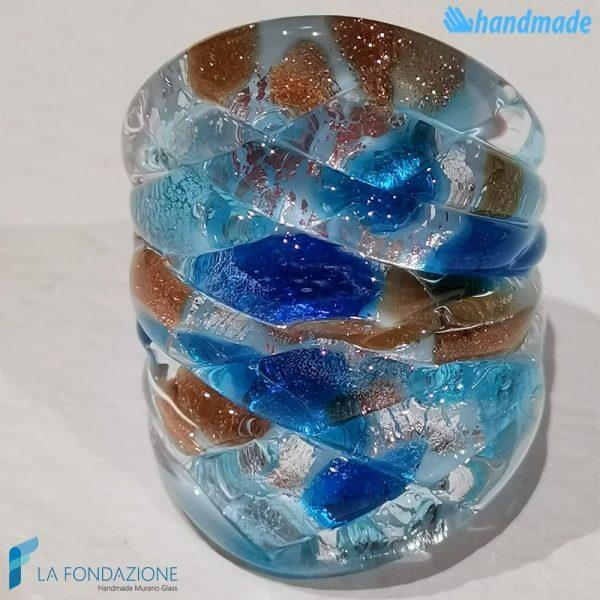 Anello Arlecchino Frozen in vetro di Murano RINGS0077