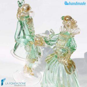 Coppia Dama e Cavaliere in vetro di Murano - SCUL002