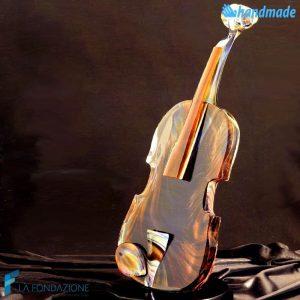 Violino in vetro di Murano e Calcedonio - SCUL010