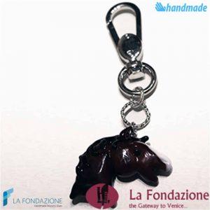 Portachiavi Testa di Cavallo in vetro di Murano - KEY004