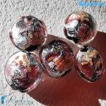 Perle Schisse Onda Rosa 16mm in vetro di Murano – PERLA001