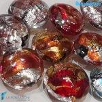 Perle Schisse Onda Multicolore 16mm in vetro di Murano – PERLA003