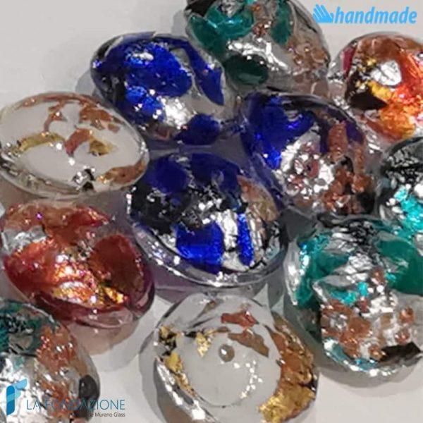 Perle Schisse Onda Multicolore 16mm in vetro di Murano - PERLA003
