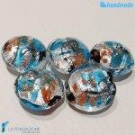 Perle Schisse Onda Azzurra in vetro di Murano – PERLA005