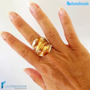 Caramel - Band ring made in Murano glass - RINGS0100