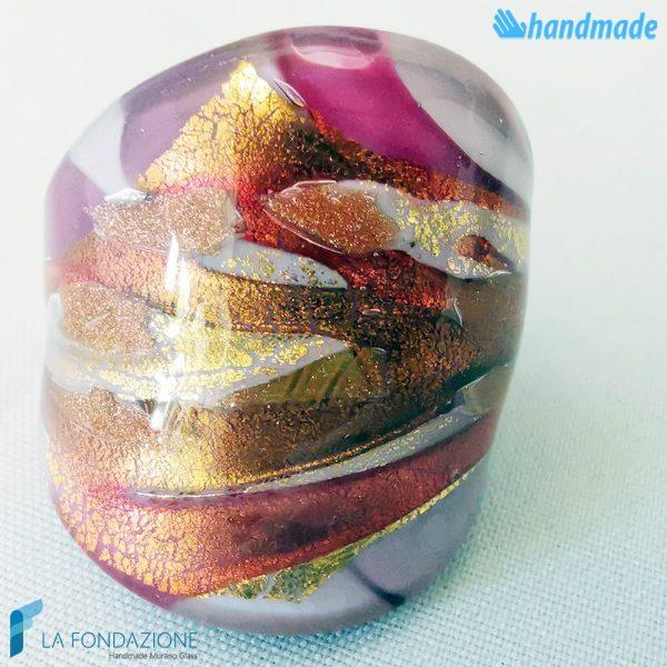 Lady - Anello fedina a fascia in vetro di Murano - RINGS0101