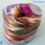 Lady – Anello fedina a fascia in vetro di Murano – RINGS0101
