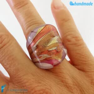 Lady - Band ring made in Murano glass - RINGS0101