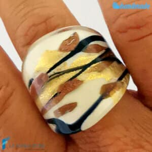 Delicate - Band ring made in Murano glass - RINGS0103