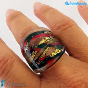 Ancient Rome - Band ring made in Murano glass - RINGS0104