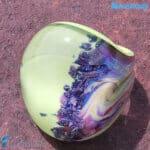 Anello Calcedonio Tondo Verde Mela di Murano fatto a mano – RINGS0120