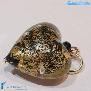 Set 4 Cuori Soleado con foglia oro in vetro di Murano - La Fondazione - PERLA017