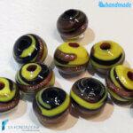 Set 20 Mini-Perle Nere con avventurina – La Fondazione – PERLA022
