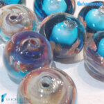 Set 8 Perle Calcedonio 12 mm Turchese – La Fondazione snc – PERLA026