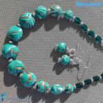 Parure Fenicio Smeraldo in vetro di Murano – La Fondazione snc – PARU0045
