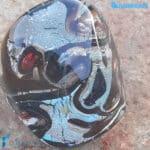 Anello cubico Occhio del Mare in vetro di Murano – La Fondazione snc – RINGS0140