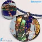 Parure Laguna Blu con collana e anello – La Fondazione snc – PARU0055