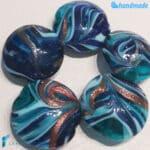 Perle Fenicio Oceano con avventurina in vetro di Murano – La Fondazione snc – PERLA032