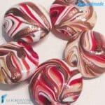 Perle Fenicio Terra con avventurina in vetro di Murano – La Fondazione snc – PERLA038